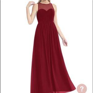 Azazie bridesmaid dress burgundy Maple size 8 new